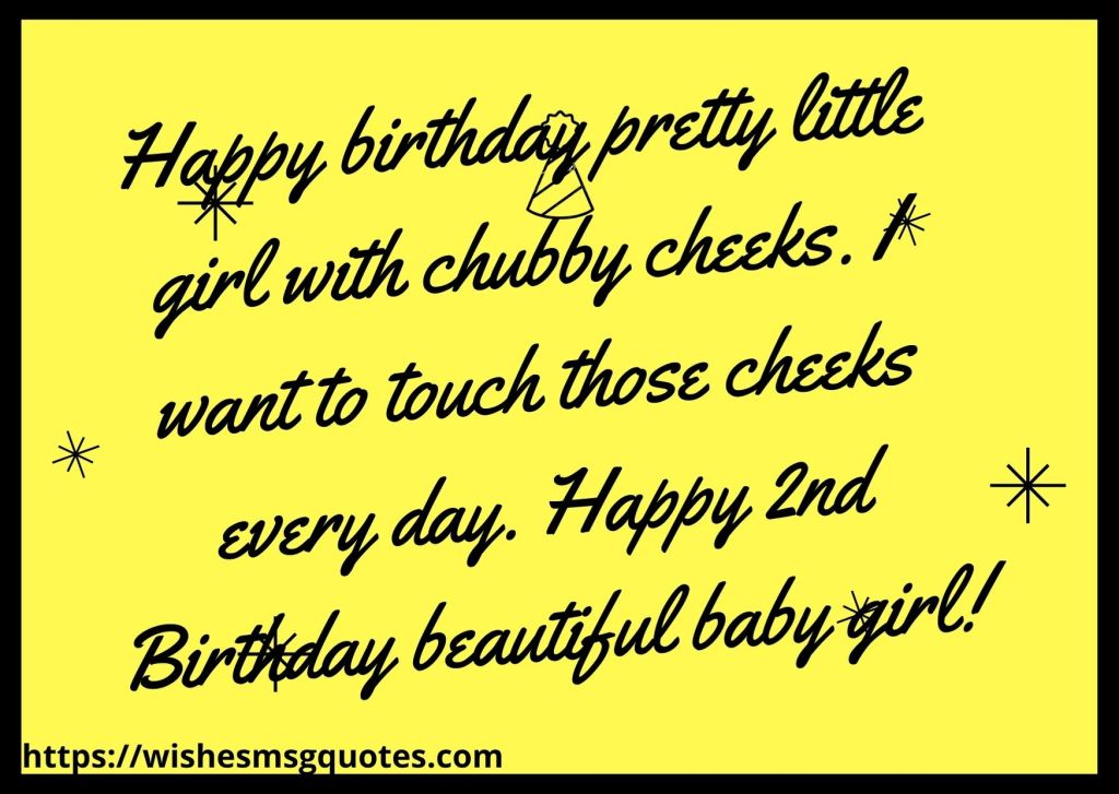 Birthday Quotes For Baby Girl 2nd Birthday