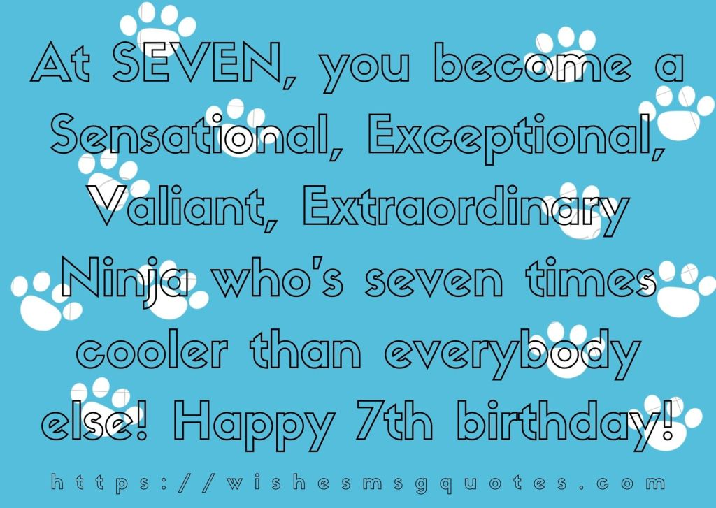 7th Birthday Quotes From Sister To Boy