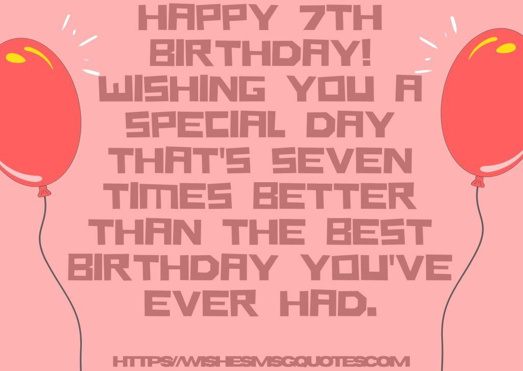 Birthday Wishes For Boy 7th Birthday