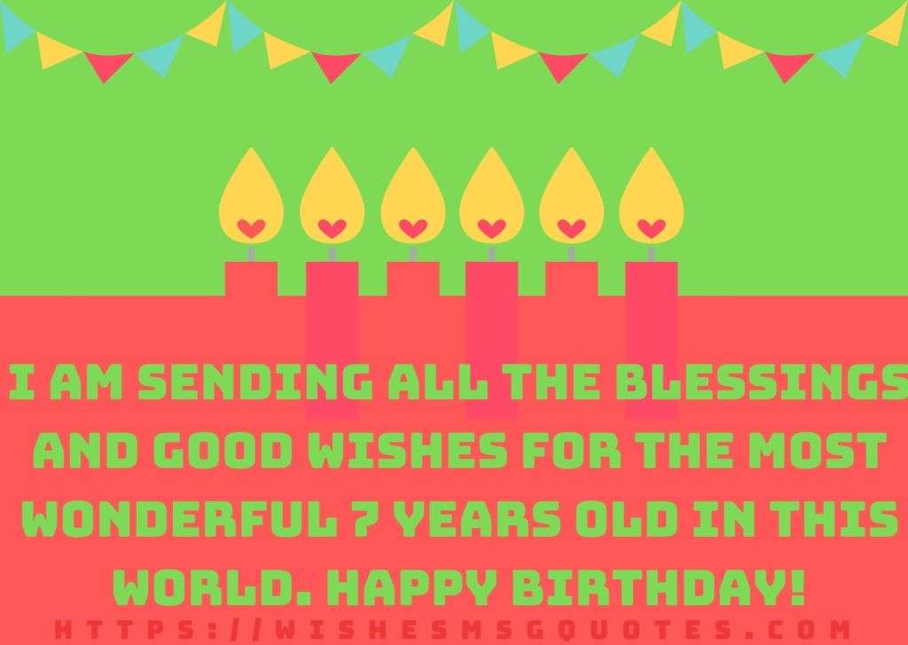 Birthday Quotes For Girl 7th Birthday