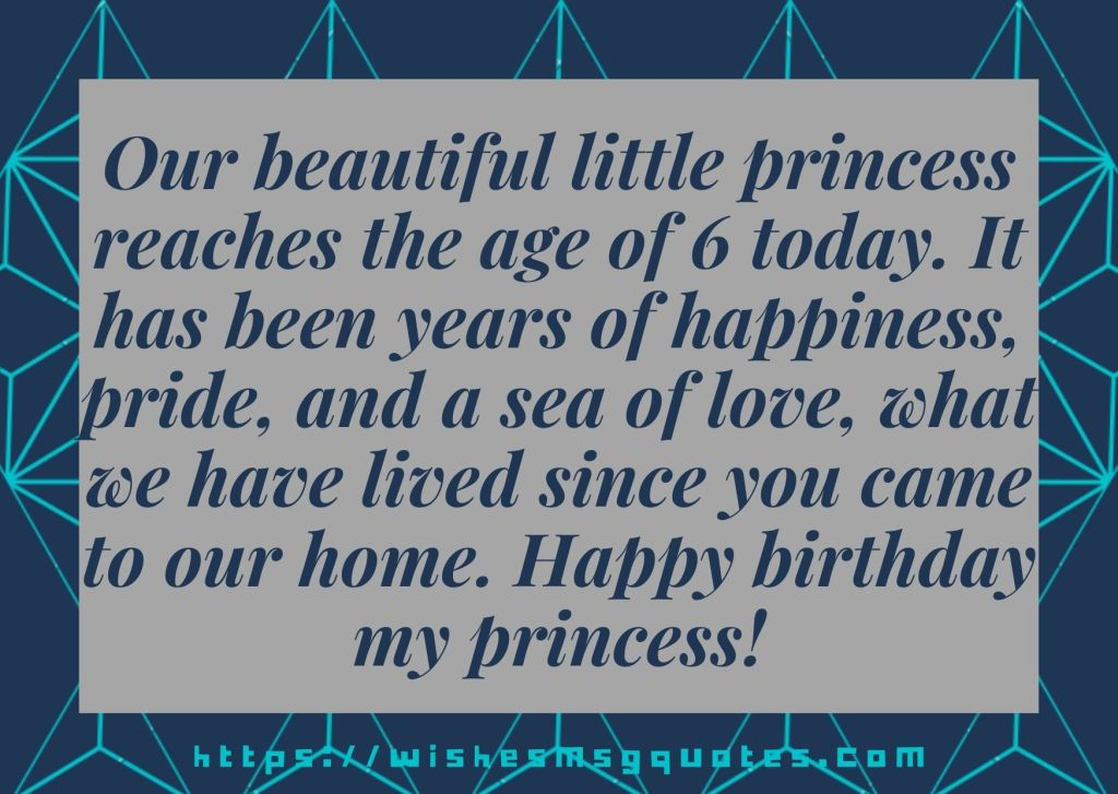 6th Birthday Messages From Mother To Girl