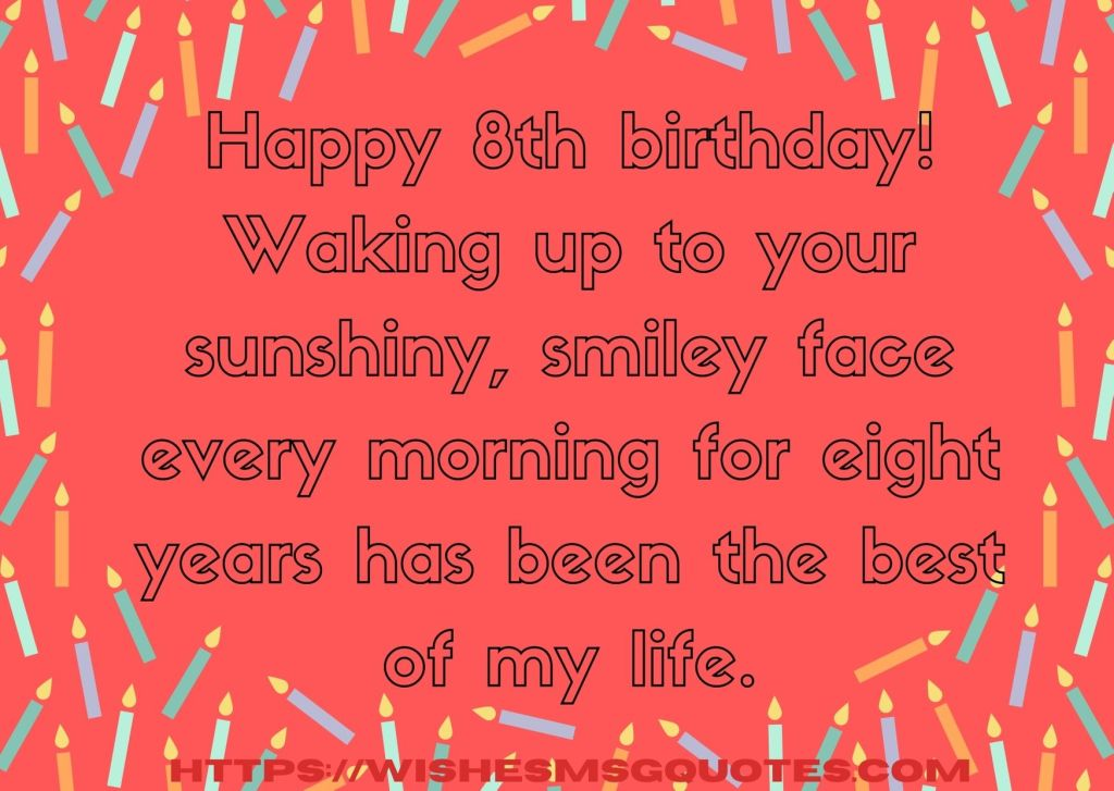 Birthday Quotes For Girl 8th Birthday