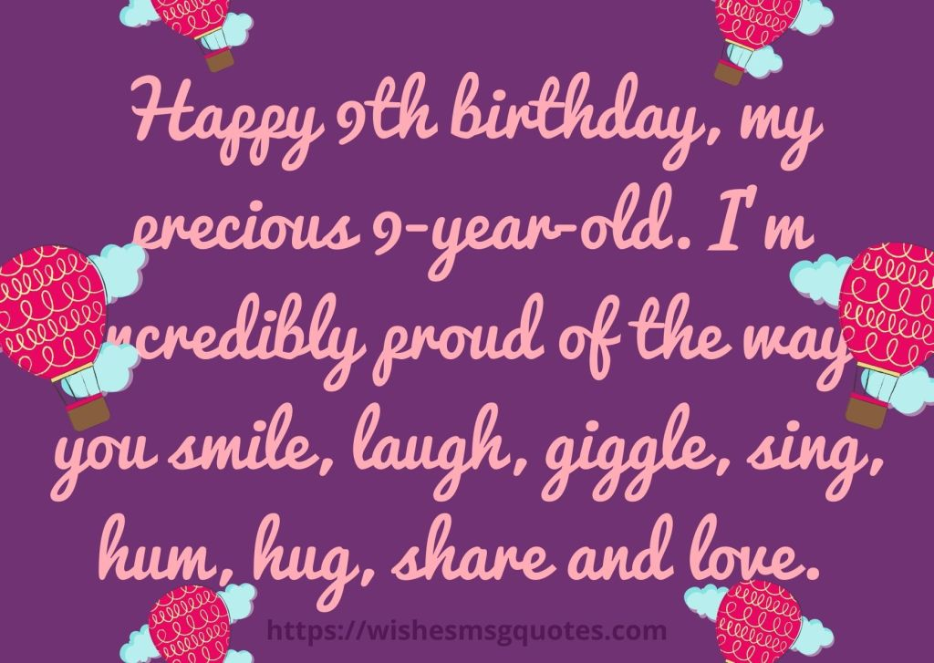 9th Birthday Wishes From Grandmother To Boy