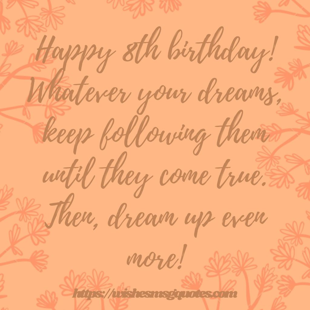 Cutest 8th Birthday Quotes For Girl From Father