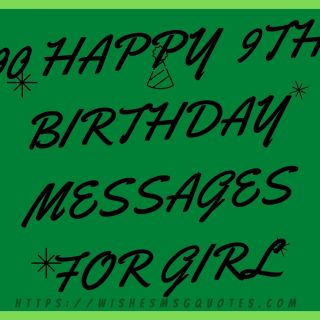 100 Happy 9th Birthday Messages For Girl