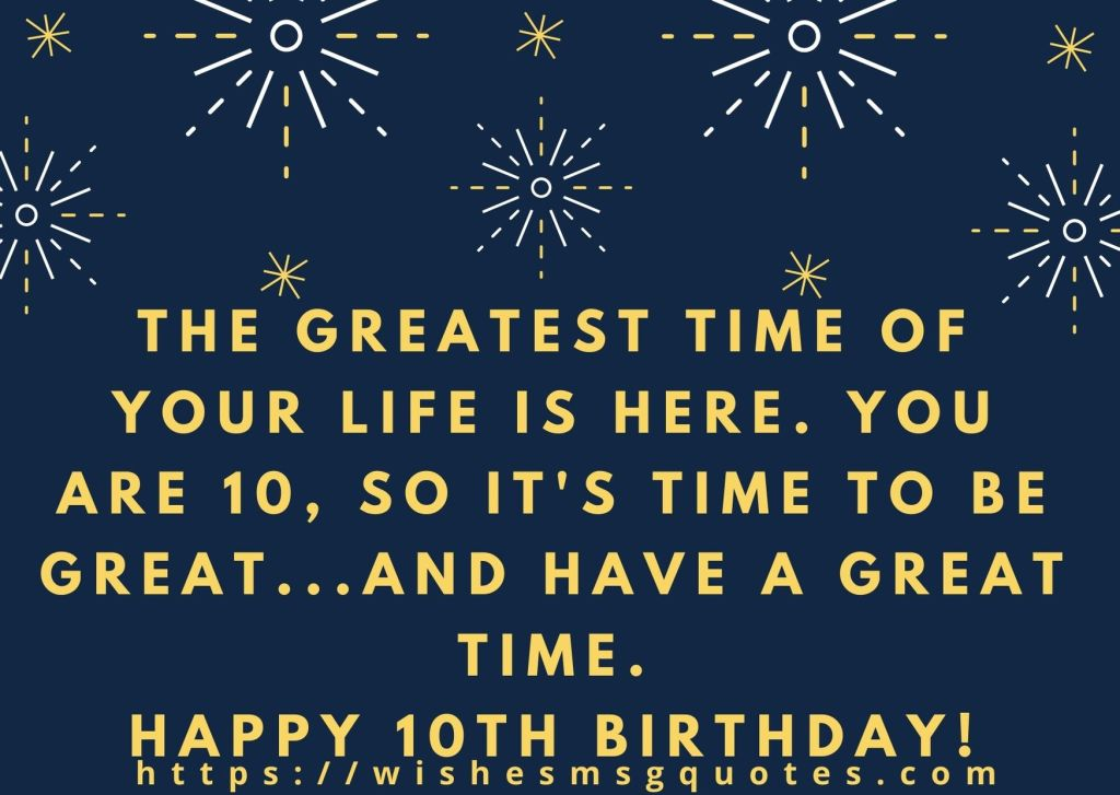 10th Birthday Messages From Grandfather To Boy