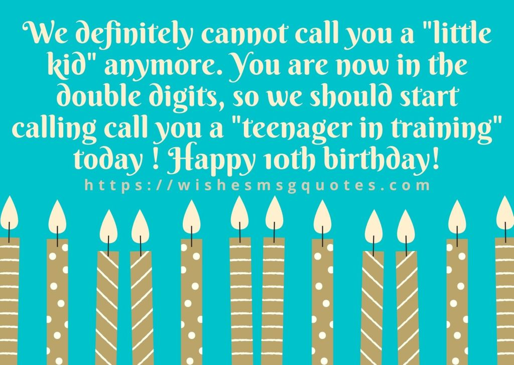 Happy 10th Birthday Messages From Parents