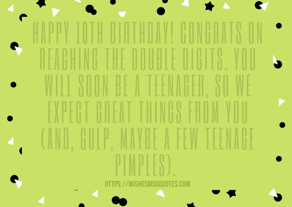 10th Birthday Quotes From Uncle To Boy