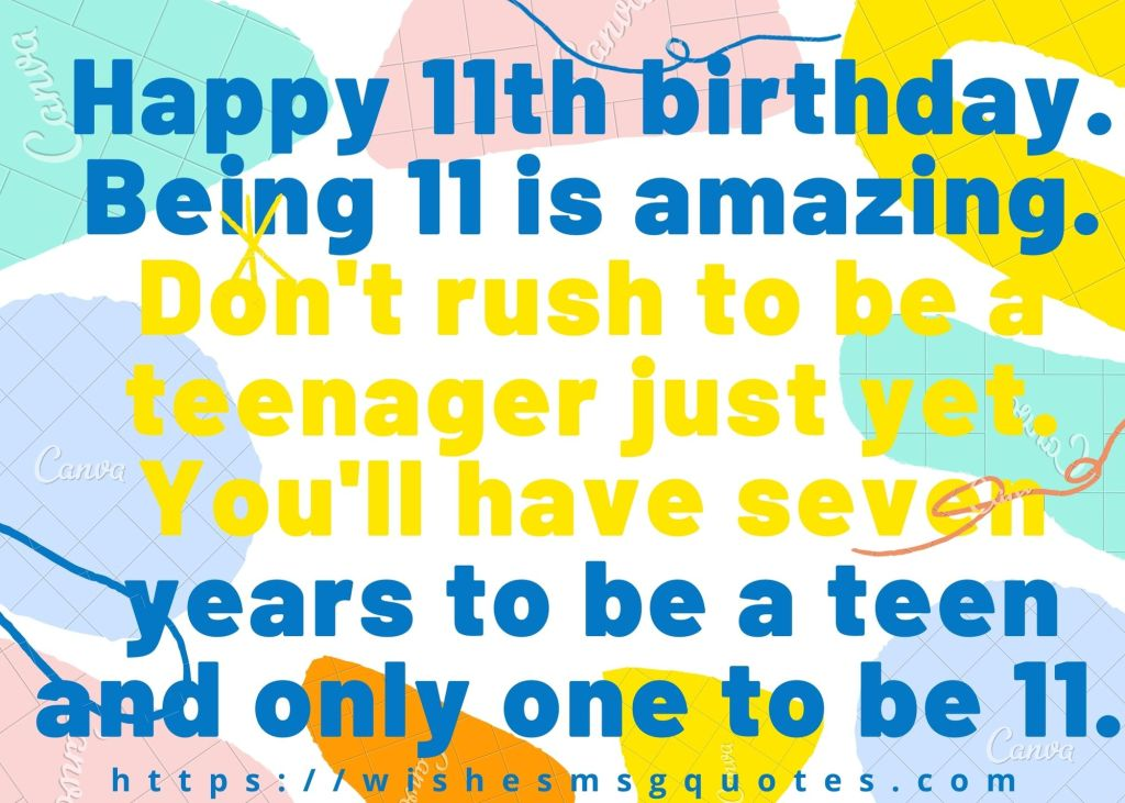 11th Birthday Quotes From Grandmother To Boy/Girl