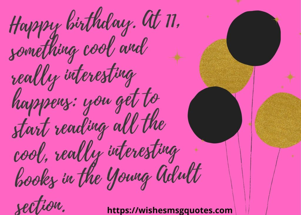 11th Birthday Messages From Uncle To Boy/Girl
