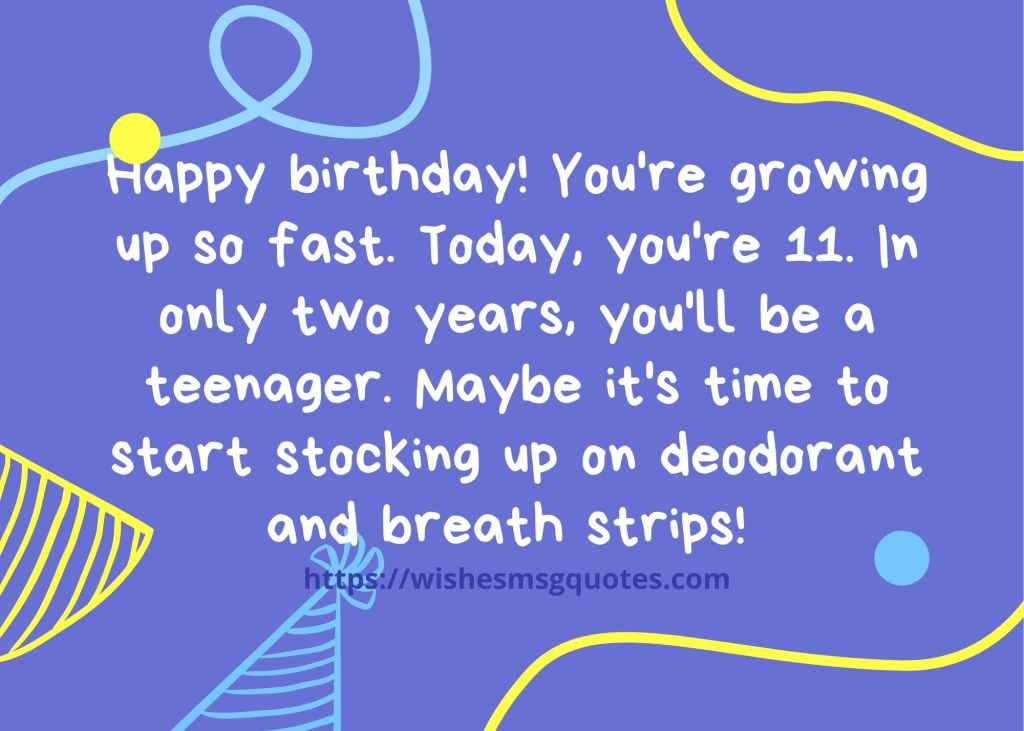 11th Birthday Messages From Friend To Boy/Girl