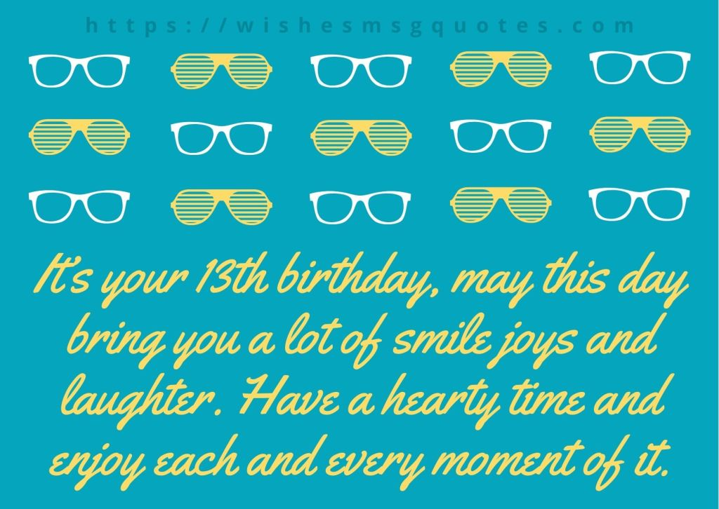 13th Birthday Quotes From Brother To Boy Or Girl
