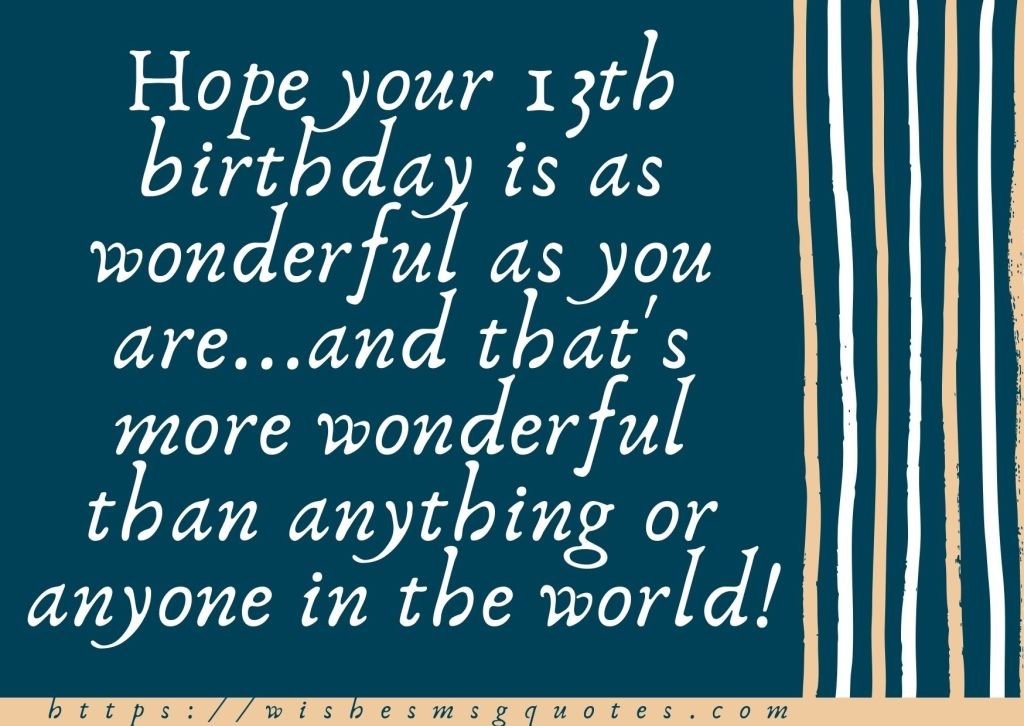 13th Birthday Messages From Aunt To Boy Or Girl