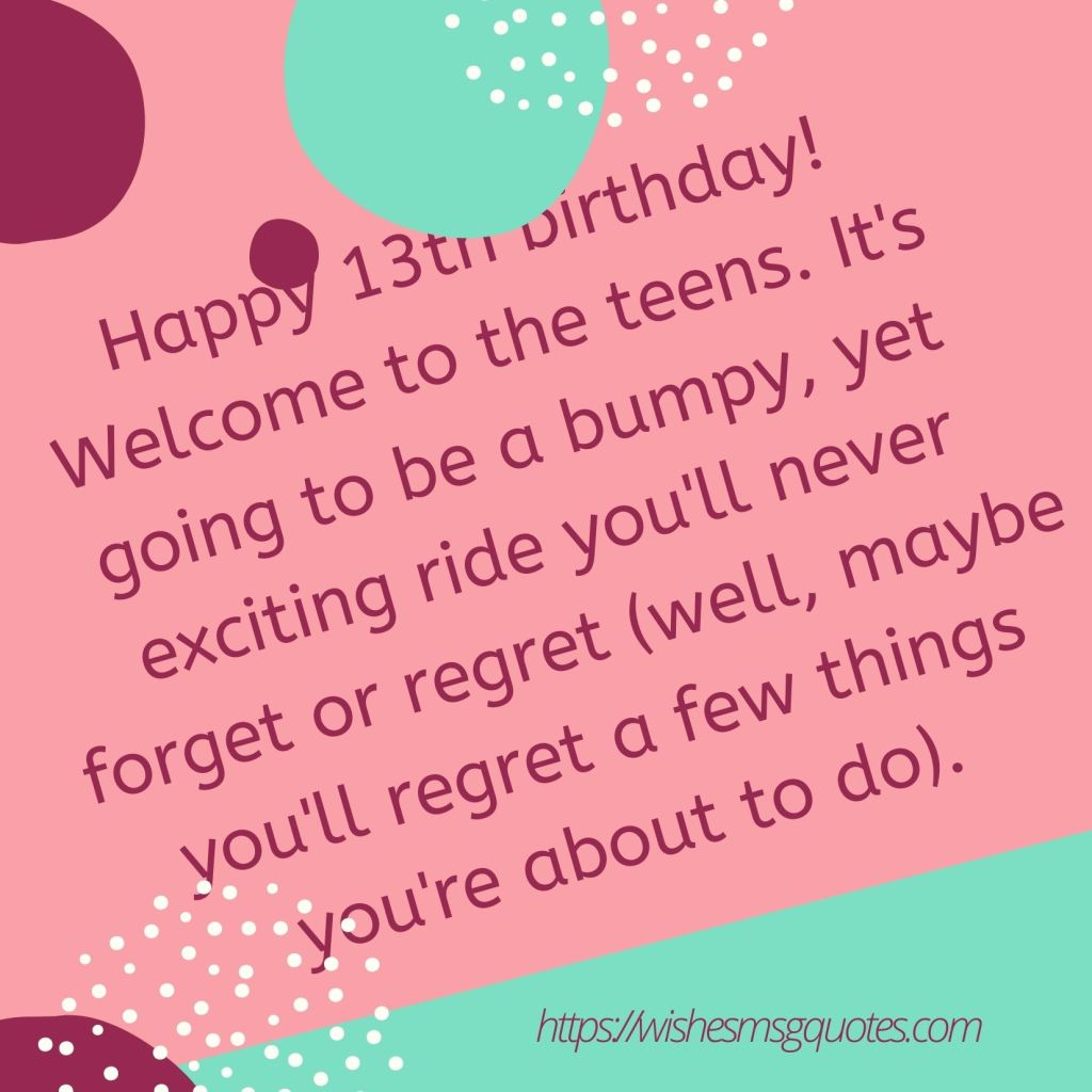 13th Birthday Quotes From Uncle To Boy Or Girl