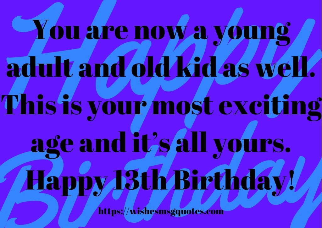 13th Birthday Wishes From Classfellow To Boy Or Girl