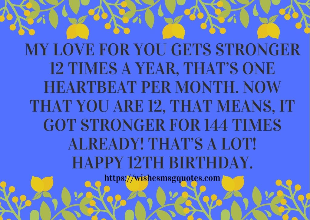 12th Birthday Quotes From Uncle To Boy Or Girl