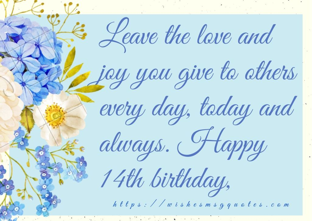 Happy 14th Birthday Wishes For Boy And Girl