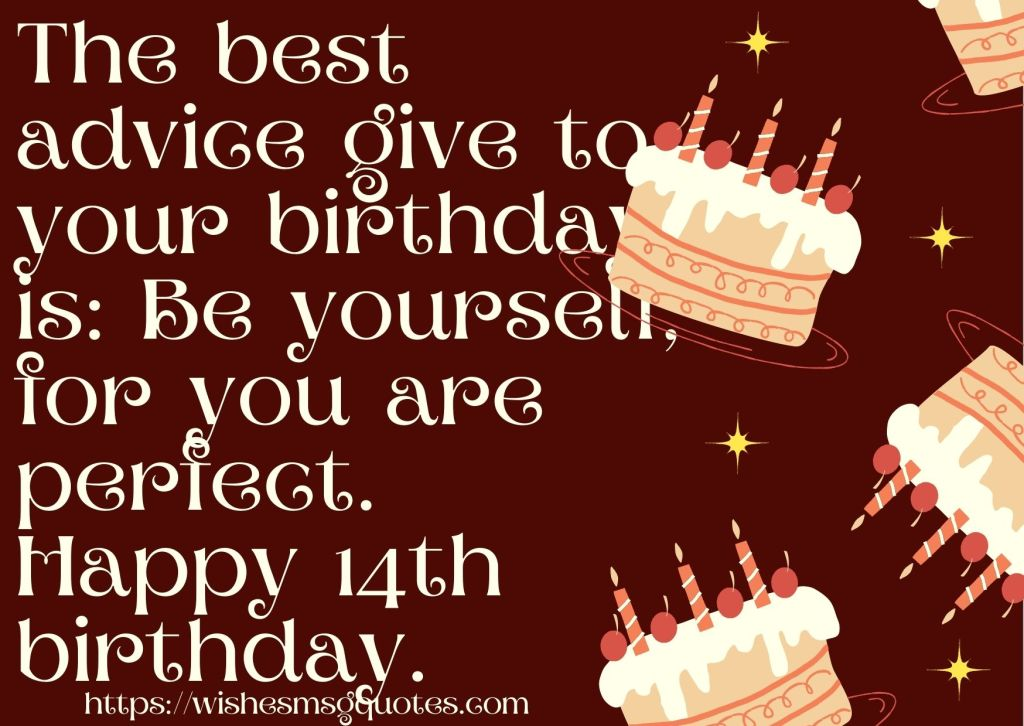 14th Birthday Wishes From Aunt To Boy Or Girl