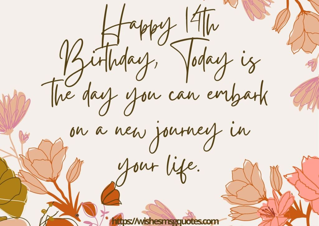 Cutest 14th Birthday Quotes For Boy Or Girl From Father