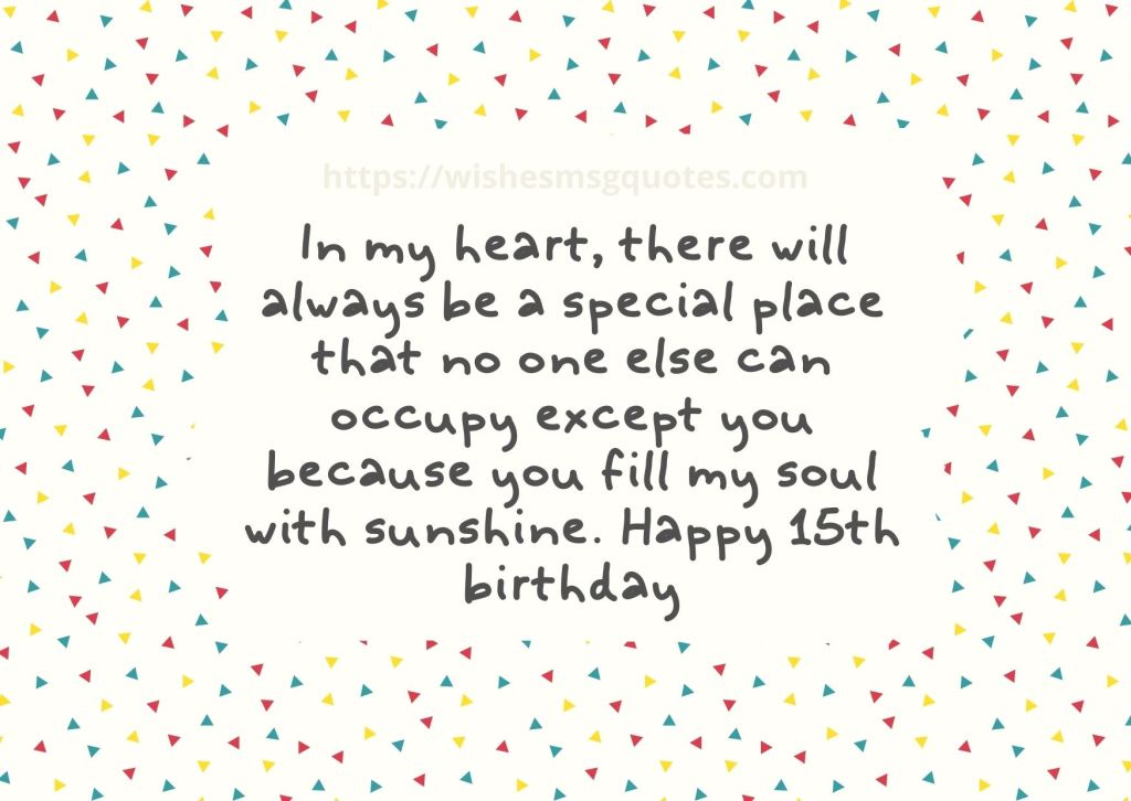 Happy 15th Birthday Quotes For Boy And Girl