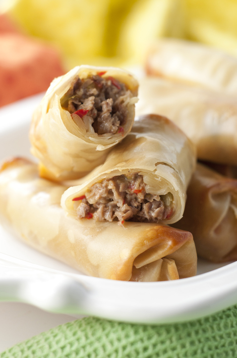 Philly Cheesesteak Egg Rolls {Wishes & Dishes}