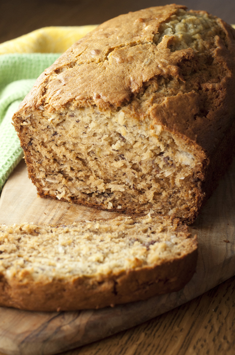 Coconut Banana Bread {Wishes & Dishes}