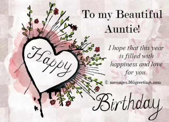 Best 20 Happy Birthday Wishes for Aunty