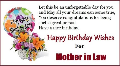 Best 20 Happy Birthday wishes for Mother in law