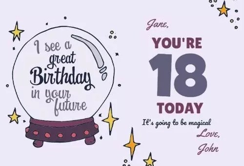 Happy Birthday Wishes for 18-year-old Boy and Girl