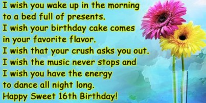 Happy birthday message to a crush