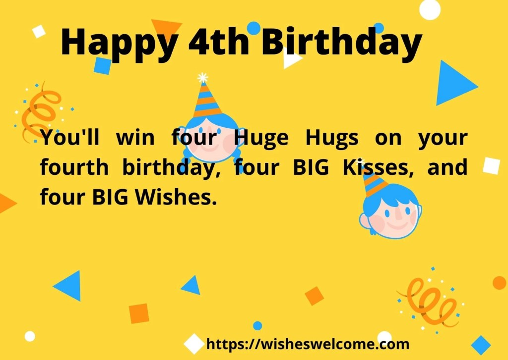 4rth birthday quotes for boys