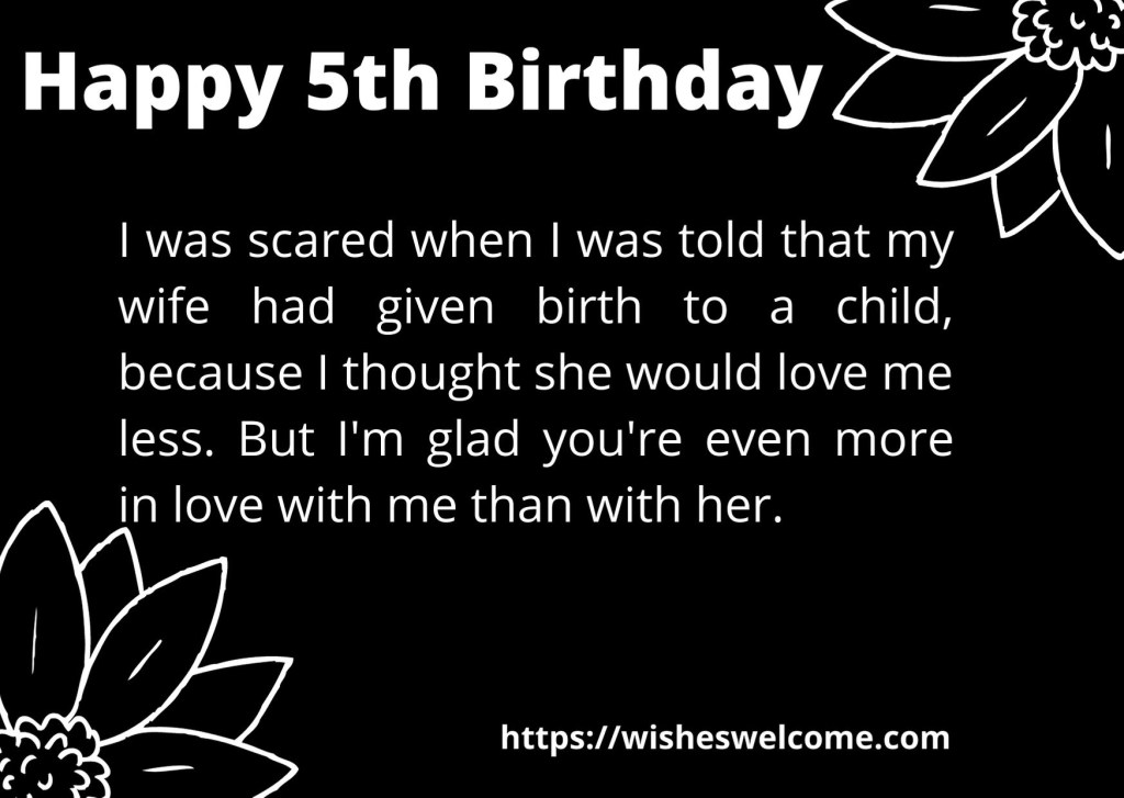 Happy 5th birthday wishes for girls and boys
