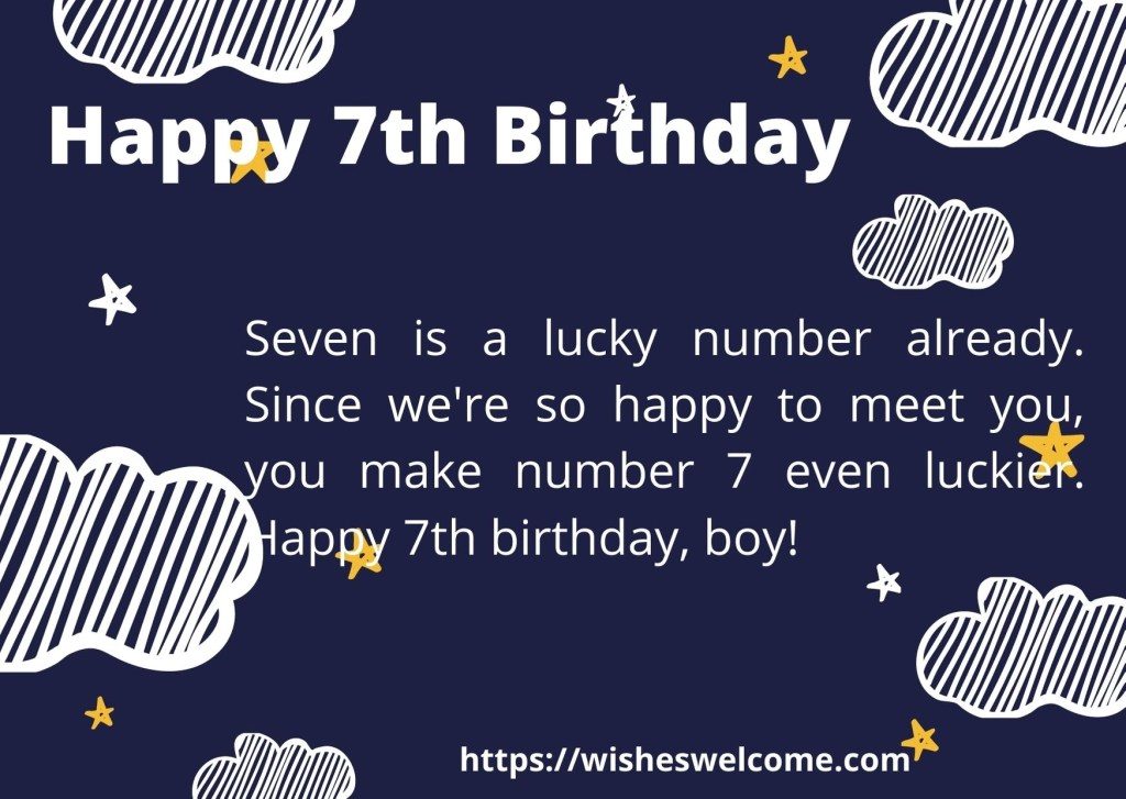 Happy 7th birthday messages for girls