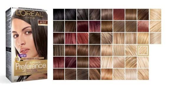 Краска для волос лореаль преферанс палитра цветов, фото и ...