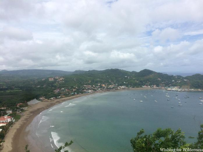 A bay and beach in Nicaragua