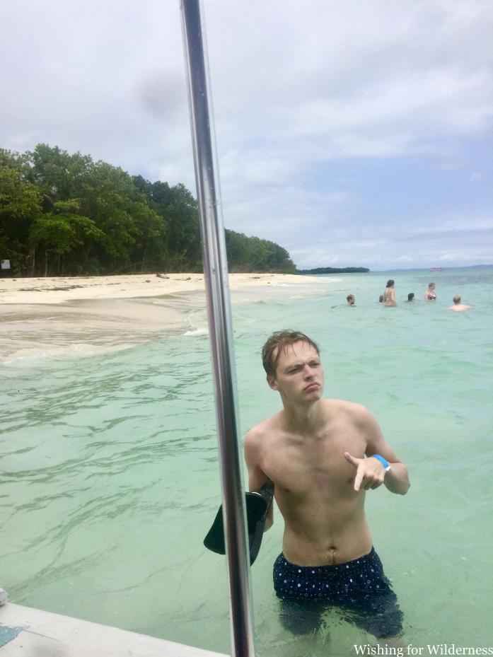 Posing in the water Bocas del Toro