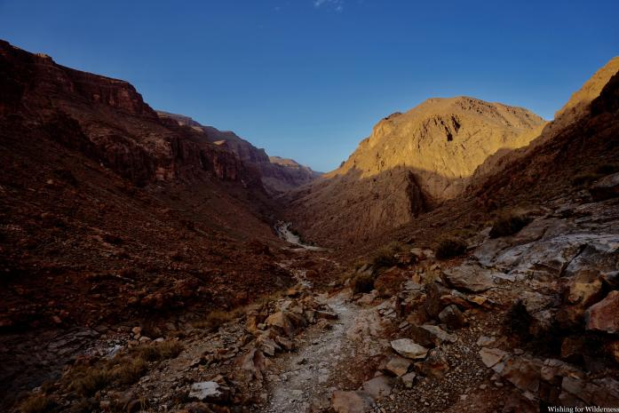 A large gorge in Morocco