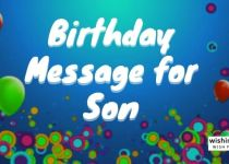 Birthday Message for Son