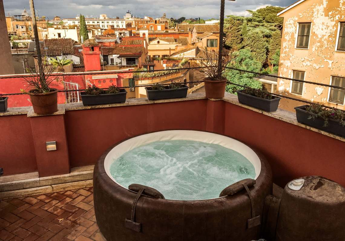 The Residenza del Cedro penthouse in Trastevere is the best place to stay in Rome.