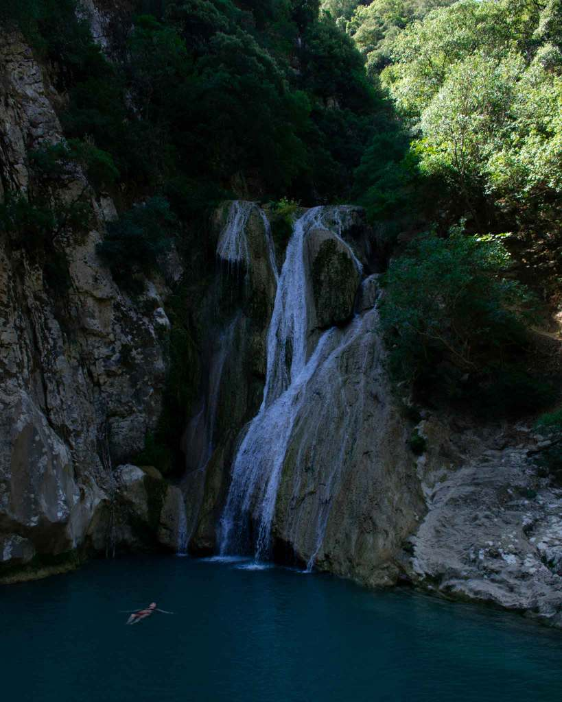 Polylimnio Waterfall Peloponnese