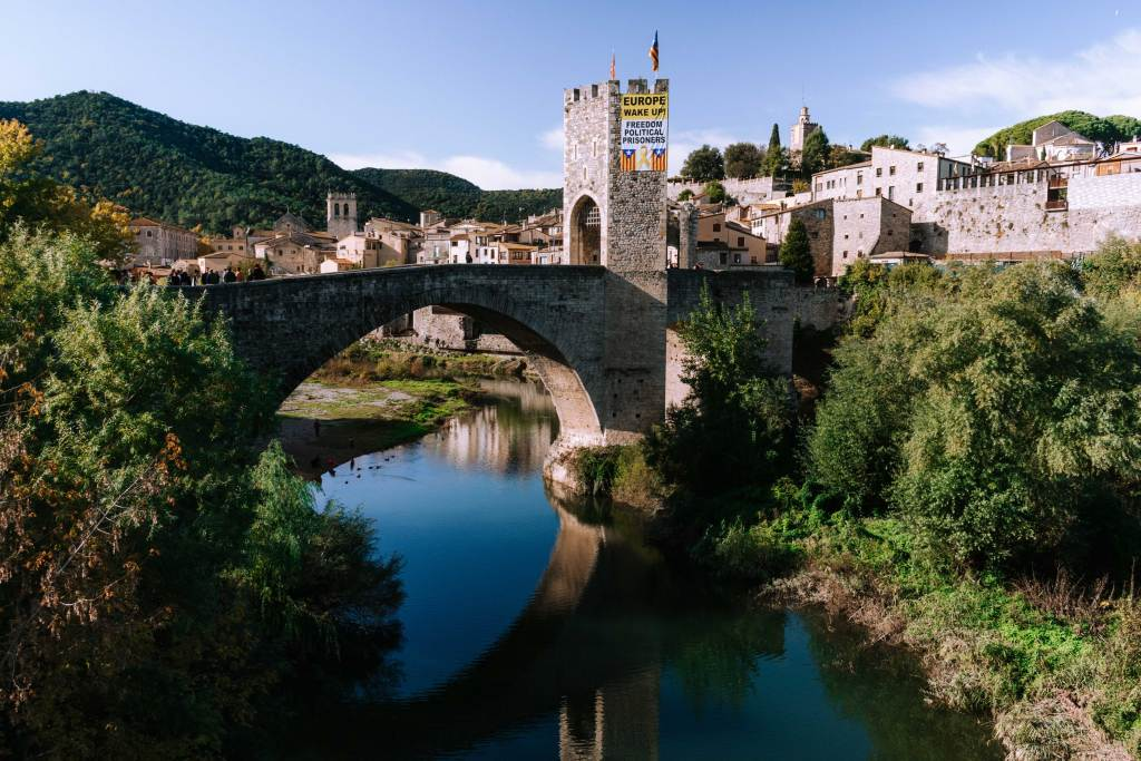 Bridge in Besalu village Catalonia