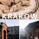 Polish food and street food stalls in Krakow