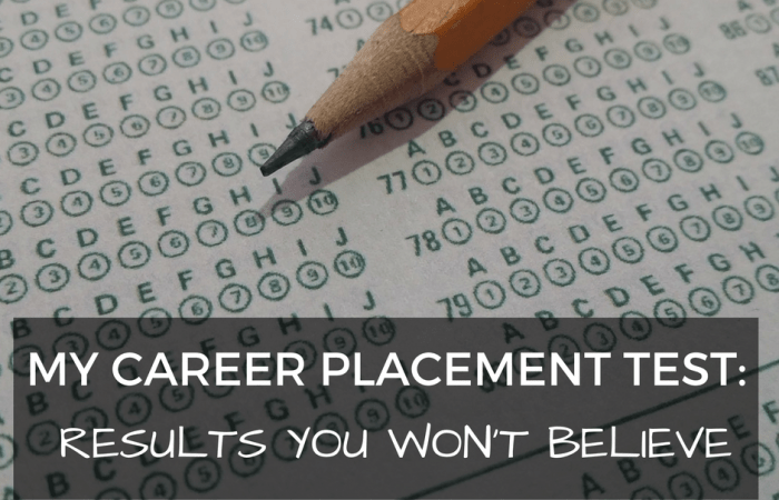 My Career Placement Test: Results You Won't Believe