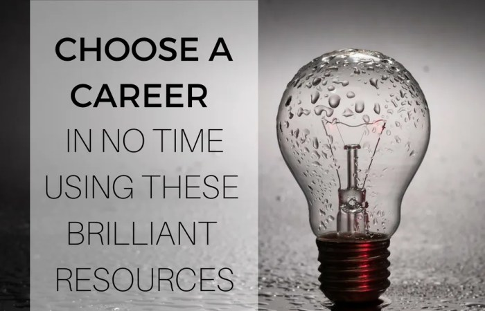 Choose A Career In No Time Using These Brilliant Resources