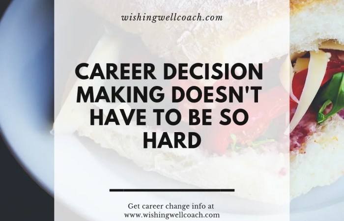 Career Decision Making Doesn't Have To Be So Hard