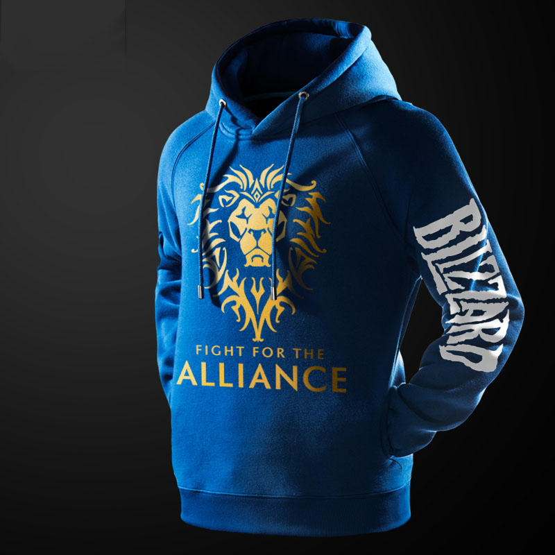 WOW World Of Warcraft Alliance Hoodie Black Hooded