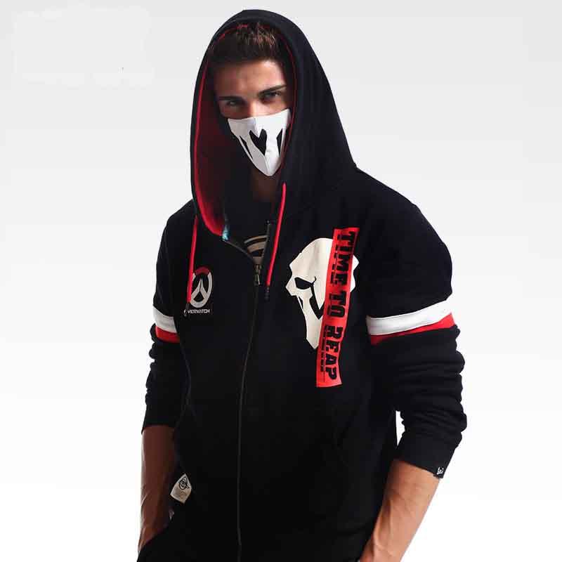 Overwatch Reaper Mikiny OW Hra Hero Ern Zip Mikiny Pro