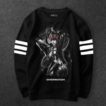 Blizzard Overwatch Widowmaker Tshirts Men Black Tee Wishining