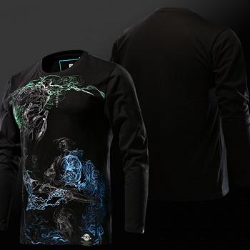 Overwatch Soldier 76 Hoodies Boys Blue Sweatshirt Wishining