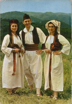 bosnians in traditional dresses Postcards